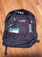 Brand New Jansport Trans Megahertz Grey Stripe Book Laptop Backpack T30BZX1 NWT