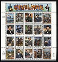 SCOTT 2975 1999 32 CENT CIVIL WAR MINT SHEET NH OG VF CAT $32