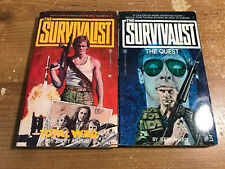 THE SURVIVALIST lot 1 & 3 JERRY AHERN Total War & The Quest paperbacks