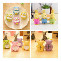 1X Cute Animal Design Rubber Pencil Eraser Office Stationery Student Prize Gift