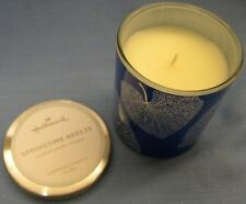 Springtime Breeze 2018 Hallmark 3 in x 3-3/4 in Spring Candle in Blue Glass wLid