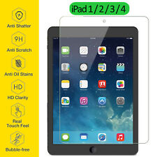 Tempered Glass Film Screen Protector Ultra Thin Clear For Apple iPad 1 2 3 4 Gen