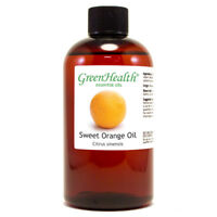 8 fl oz Orange Sweet Essential Oil (100% Pure & Natural) Green Health Brand