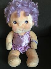 """Vintage Hugga  Bunch Impkins Doll 1985 16"""" Plush Purple Hair with Outfit"""