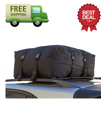 OxGord Cargo Rack Carrier Roof Top Bag Car Fit Waterproof 10 Cubic Feet Vehicles