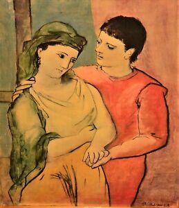Pablo Picasso Original Vintage The Lovers Couple Portrait Giclee on Canvas Print