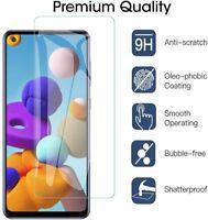 Schutzglas Glasfolie Samsung Galaxy A21s Display Schutz Folie Panzerfolie 9H