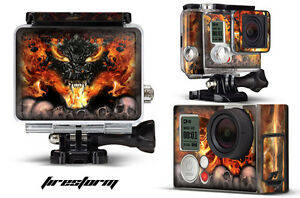 Skin Stickers for GoPro Hero 3+ Camera & Case Decal HERO3+ Go Pro FIRESTORM