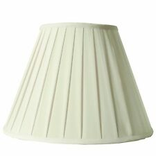 Hand Made Cream Round Box Pleat Lamp Shade for Table Lamp 8x16x12 (Spider)