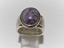Ring mit 6ct. Amethyst in 925 Sterling Silber; Ringgröße: 57