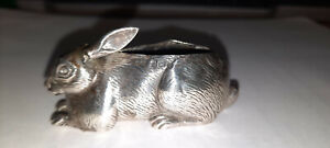 Antique Adie & Loveking Silver Rabbit Pin Cushion 1908