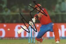 GUJARAT Leoni: Aaron Finch firmato 6x4 IPL azione foto + COA * Australia *
