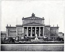 Schauspielhaus et schiller place à Berlin document illustré historique de 1904