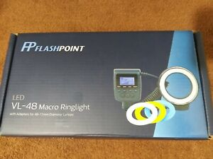 Flashpoint VL-48, Macro Ring Light with Adapter for 49-77mm Diameter Lenses