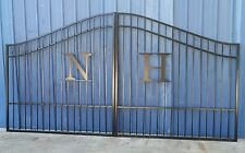 Custom Built Driveway Entry Gate 12ft Wide Dual Swing, Beds, Handrails, Gates.