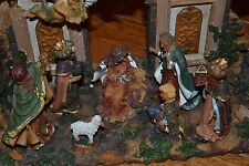 Heavy Resin One Piece Nativity Set, Marked PR Made in China, Amazing Piece!