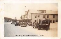Real Photo Postcard Half Way Hotel in Hereford, Quebec, Canada~124365