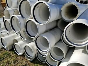 8 inch PVC pipe reinforced with lightweight concrete