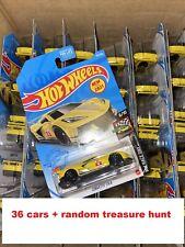2021 Hot Wheels Corvette C8.R Lot Of 36 + RANDOM TREASURE HUNT