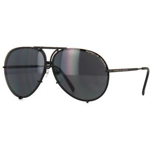 PORSCHE P8478 D Sunglasses Matte Black Frame Black Sliver Gray Lenses 69 mm