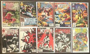 Wolverine #101,102,103,104,105,106,107,108,109,110 1996 Marvel Series 1 X-Men Nm