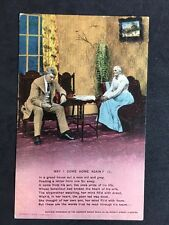 Vintage Postcard - Bamforth Song Card #31 - May I Come Home Again (1) 1911