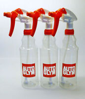 Autoglym 3 x Calibrated Trigger Spray Bottle 500ml Valeting Free P & P