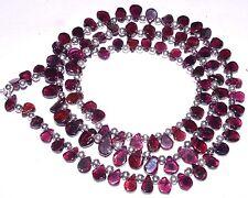 "K-0312 Garnet Natural Gemstones Beautiful Red Pear Plain Loose Beads 22"" Strand"