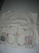 Vintage Embroidered Half Apron Floral Baskets
