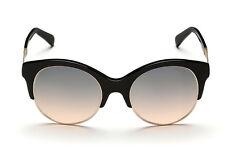 2d7aef8777be Emilio Pucci Sunglasses EP 23 01B Shiny Black Gold / Gradient Gray 54 mm EP  0023