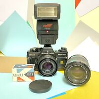 Praktica BC3 Electronic 35mm SLR Film Camera W/ 50mm F/1.8 Lens & Cap Lomo Retro