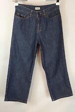 L.L.Bean women's size 6 reg 100% cotton medium wash mid-rise cropped jeans