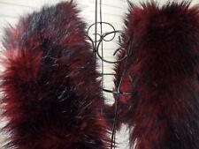 XL Dreieck Schal Winter Fell Hippie Plüsch Webpelz WEICH Fransen grau pink NEU