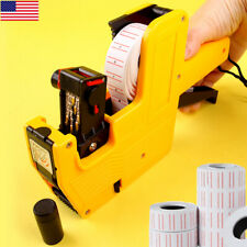 8 Digits Date Usd Eos Price Tag Gun Sticker Labeler Kit (With Label/Ink Refill)