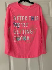 Justice Girls Pink Hot Chocolate Shirt Size 14