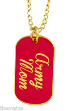 ARMY MOM LOGO PINK AND GOLD  MILITARY  DOG TAG