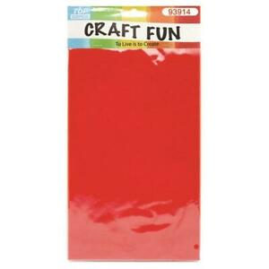 "8.5"" x 11"" Red EVA Foam Sheets, 7 ct."