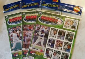 3 - 2003 MERRICK MINT COLLECTIBLE BASEBALL STAMP STICKERS & TRADING CARDS. NEW