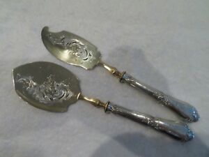 1900 french 950 silver (handles) ice cream serving set rococo st Lapparra