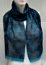 BURBERRY ORIGINAL XXL TUCH SCARF SCHAL Carré платок WOLLE SEIDE 156x30 UVP 229 €