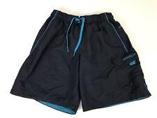 SPEEDO Mens S Swim Trunks Board Shorts Liner Draw String Side Pockets Navy