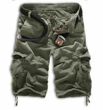 Summer Men's Military Combat Camo Cargo Shorts Pants Work Casual Army Trousers
