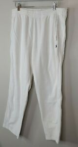 Polo Ralph Lauren terry cloth lounge pants pockets white medium mens
