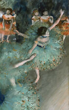 "Edgar Degas canvas print ""Dancers in green"" giclee 8X12&12X17"
