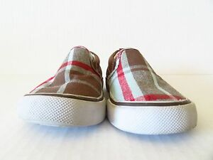 Crazy 8 Plaid Slip On Shoes in Size 5 (Toddler)