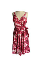 Basque Women's Hot Pink Fit And Flare Dress Pleated Size 12