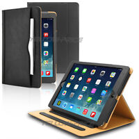 Magnetic Leather Smart Cover Stand Case w/Side Pocket For Apple iPad 2 3 4 Gen.