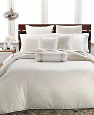 Hotel Collection Woven Texture Full/Queen Duvet Cover Ivory