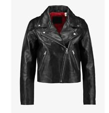 LEVI'S  LADIES 100% AUTHENTIC LEATHER BIKER JACKET R.R.P £299  50% OFF NOW £149