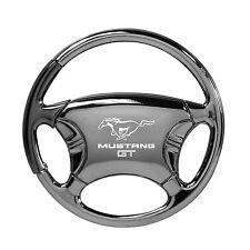 Ford Mustang GT Black Chrome Steering Wheel Keychain OLP Lifetime Warranty